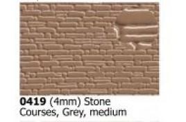 4mm /2mm  Stone Courses Medium Grey OO Scale