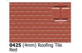 4mm  Roofing Tiles Red OO Scale
