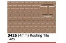 4mm  Roofing Tiles Grey OO Scale