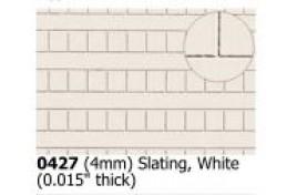 4mm  Slating  White OO Scale