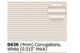 4mm  Corrugated   White OO Scale