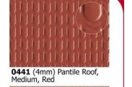 4mm  Roofing Pantile  Red Medium OO Scale