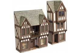 Low Relief Timber Framed Shops - N scale