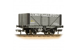 8 Plank Open Wagon Fixed End 'Stewart and Lloyds Ltd' Grey OO Gauge