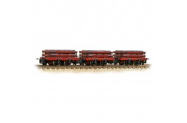 Red Slate Wagons 3-Pack With Load Weathered OO-9 Gauge