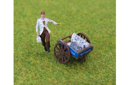 Milkman and Milk Cart (Painted) OO Gauge
