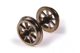 OO Scale  Metal Spoked Wagon Wheels Pack of 10 Assembled Axle Sets