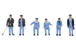 1950s Train Crew x 6 OO Scale