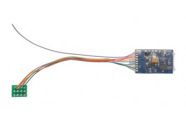 0.9 Amp 4 Function 8 Pin DCC Decoder featuring RailComPlus®