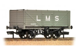 7 Plank End Door Wagon LMS Grey OO Gauge