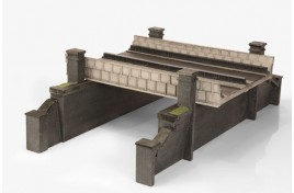 Double Track Rail over Road Bridge OO Scale