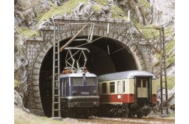 Double Track Tunnel Portals with Clearance for Overhead Electric Wires x 2 OO/HO Scale