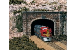 Double Track Tunnel Portals Cut Stone x 2 N Scale