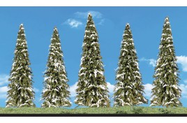 Classic Trees Snow Dusted (Fir) Medium (2