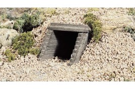 Culverts (Sewer or Drain) Portals Wood x 2 N Scale