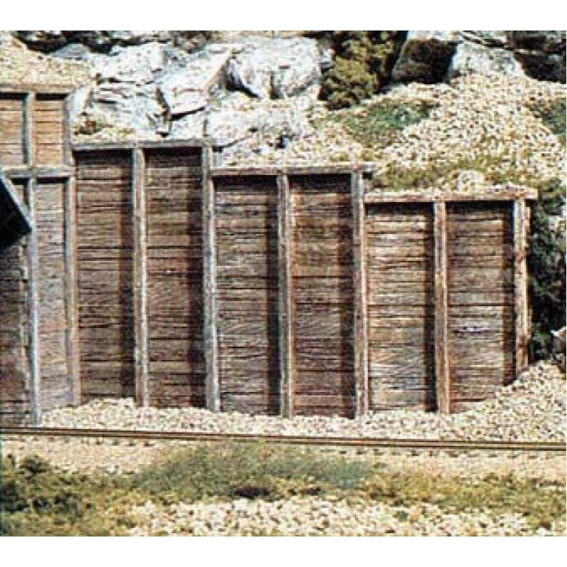 HO Scale Woodland Scenics 1260 Timber Retaining Wall