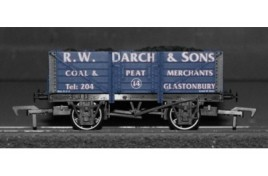 OO Gauge 5 Plank Wagon with Coal Load, R.W. Darch & Sons Coal & Peat Merchants, Glastonbury  No.14 Limited Edition of 130