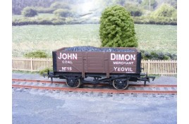 OO Gauge 5 Plank Wagon with Coal Load, John Dimon Merchant, Yeovil - No.15, Limited Edition of 120