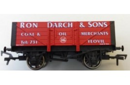 OO Gauge 5 Plank Wagon with Coal Load, Ron Darch & Sons Coal & Oil Merchants, Yeovil No.16 Limited Edition of 130