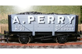 OO Gauge 5 Plank Coal Wagon with Coal Load A. Perry, Coal Merchant of Cheddar - Limited Edition of 130