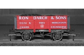 OO Gauge 5 Plank Wagon Ron Darch & Sons Coal & Fuel Merchants of Chard & Crewkerne No 12 Limited Edition of 120