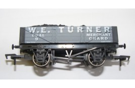 4 Plank Coal Wagon with Coal Load W.E Turner of Chard OO Gauge