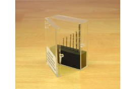 8pc HSS Drill Set 0.5 - 2mm in Plastic Stand