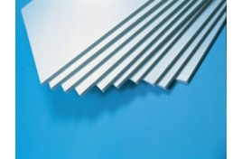 Large White Polystyrene Sheets 0.5mm (20 thou) Thick x 2