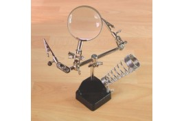 Helping Hands with Glass Magnifier & Soldering Iron Holder