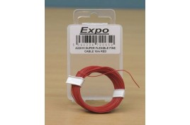 Super Flexible Fine Cable 5/0.1mm 10m Red
