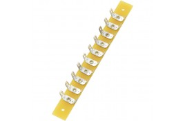 Terminal Strip 10 poles (20 connectors) 2.8mm tags 100mm x 10mm Mounting Plate