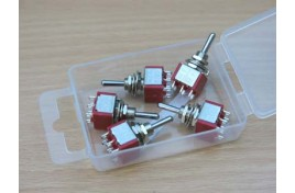 Miniature Switches DPDT On/Off/On (Centre Bias) x 5