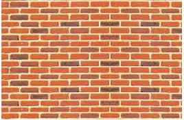 LS97420 Brick Plastic Pattern Sheet N Gauge