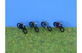 Bicycles x 4 (painted) N Scale