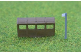 Bus Stop and Covered Shelter - Painted N Scale