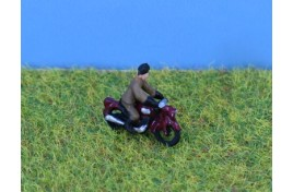 1950s Motorcycle & Rider N Scale