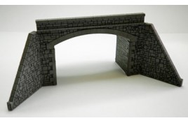 NTM1 Double Track Tunnel Mouth Stone Built - Card & Laser Cut Wood Kit N Scale