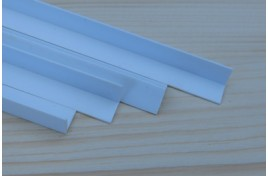 """90508 3/8""""/9.5mm x 24""""/600mm Styrene 'L' Angle Pack of 4"""