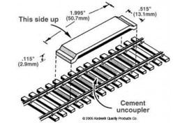 Magne-Matic Between the Rails Code 100 Delayed Uncoupler 1 Pair OO/HO Scale