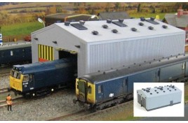 Fordhampton Locomotive Depot Plastic Kit OO Scale