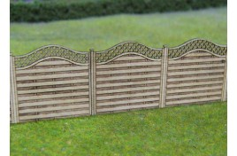Wooden Fencing with Lattice Top Laser Cut Wood Kit OO Scale