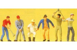Workers x 6 with Tools OO/HO Scale