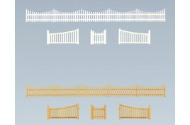 Garden Fence with Gate N Scale