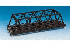 Double Track Truss Girder Bridge Black 248mm N Scale