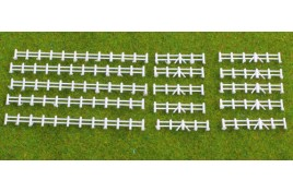 Farm Rail Fencing White (Total Length 30'') Plastic Kit