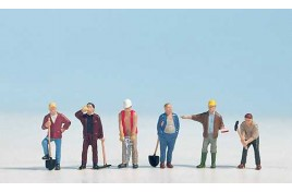 Construction Workers x 6 with Tools OO/HO Scale