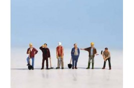 Construction Workers x 6 N Scale