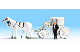 Horse Drawn Wedding Carriage, 2 Horses & 1 Driver