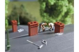 Chimney Assortment Plastic Kit OO/HO Scale