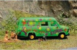 Wilderness Camping Ford Transit Van with Nude Campers OO/HO Scale